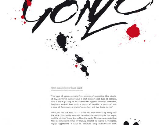 AAA School Of Advertising Print Ad -  Hunter S Thompson & Gonzo Journalism