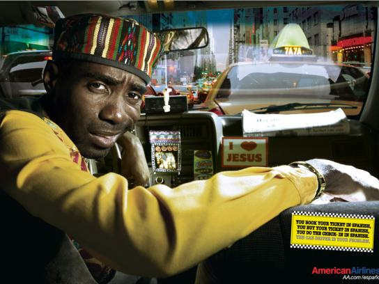 American Airlines Print Ad -  African