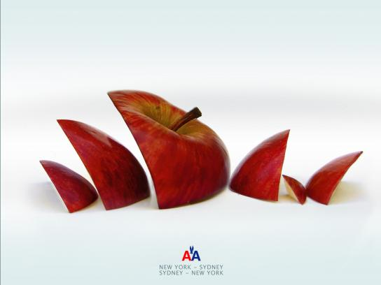 American Airlines Print Ad -  Apple