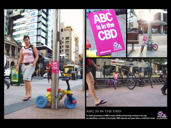 ABC Learning Centres Ambient Ad -  Bike