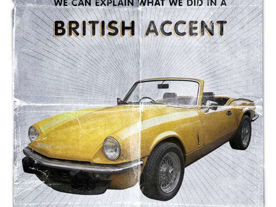 British Auto Service Print Ad -  Accent