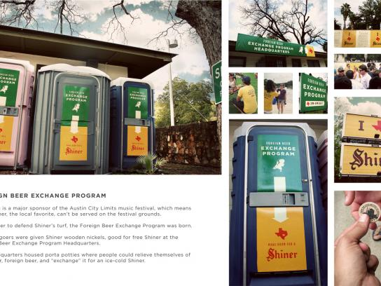 Shiner Beer Ambient Ad -  Foreign Beer Exchange, Austin City Limits Festival 2009