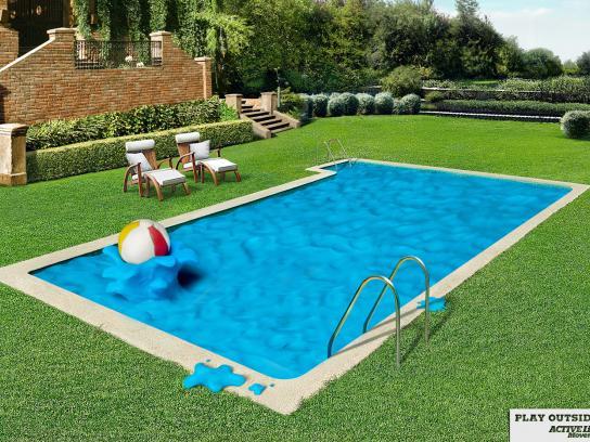 Active Life Print Ad -  Pool