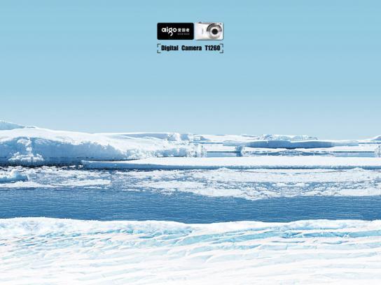 Aigo Print Ad -  Big world, Polar caps