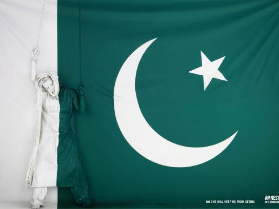Amnesty International Print Ad -  Flag, 3