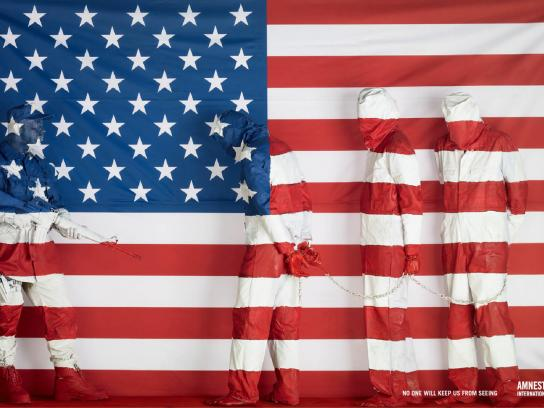Amnesty International Print Ad -  Flag, 4