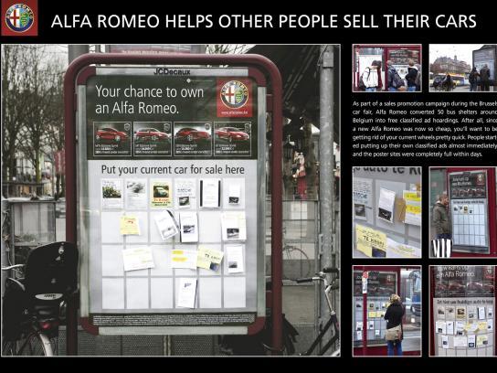 Alfa Romeo Ambient Ad -  Car sale noticeboard