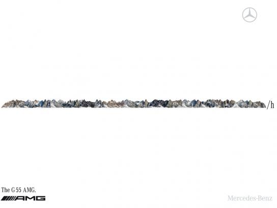 Mercedes Print Ad -  Mountains