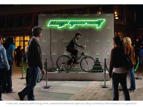 AMP Ambient Ad -  Human energy