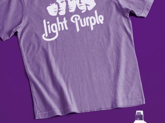 Ariel Print Ad -  Purple t-shirt
