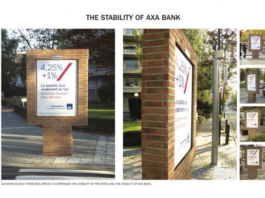 AXA Outdoor Ad -  Bricks