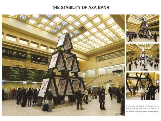 AXA Outdoor Ad -  House of cards