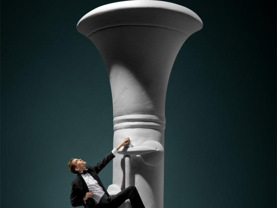 Accademia Teatro alla Scala Print Ad -  The climb, Musician