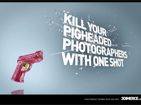 3Dimerce Print Ad -  Watergun