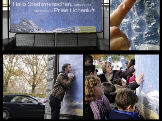 Braunwald Tourism Outdoor Ad -  Mountain degustation in the city