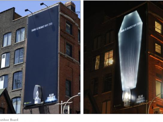 Xbox Outdoor Ad -  Coffin light