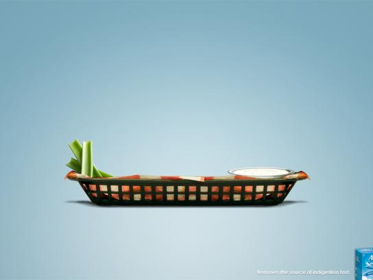 Alka Seltzer Print Ad -  Removes the source of indigestion fast, 1