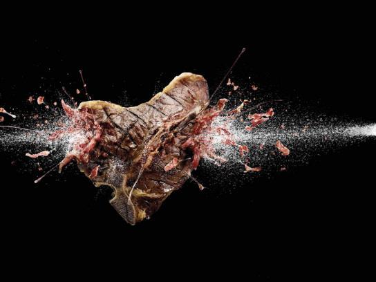 Alka Seltzer Print Ad -  Steak