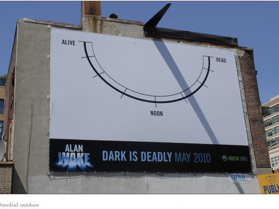 Xbox Outdoor Ad -  Sun dial