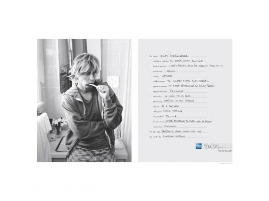 American Express Print Ad -  Ellen