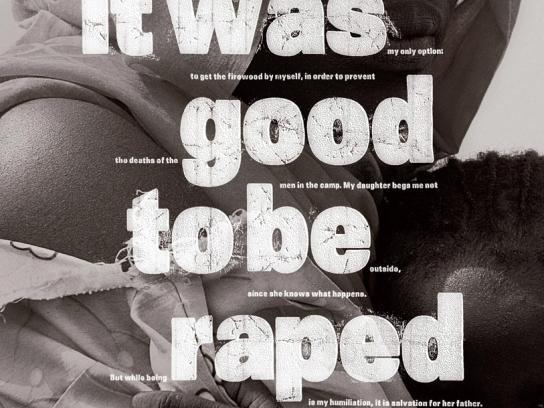 Amnesty International Print Ad -  Darfur rape, 1