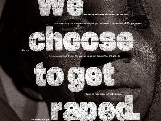 Amnesty International Print Ad -  Darfur rape, 4