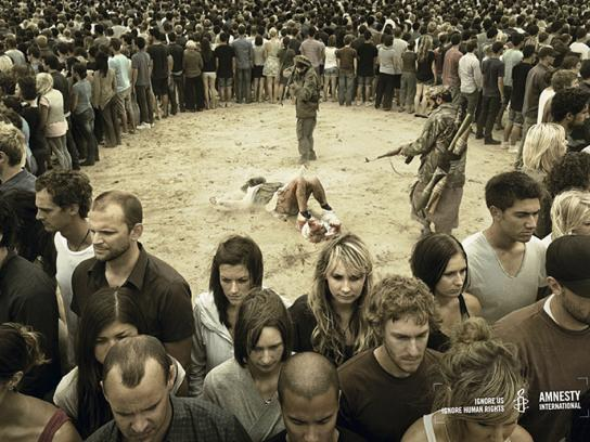 Amnesty International Print Ad -  Rebel soldiers