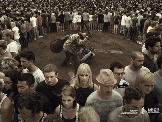 Amnesty International Print Ad -  Street beating