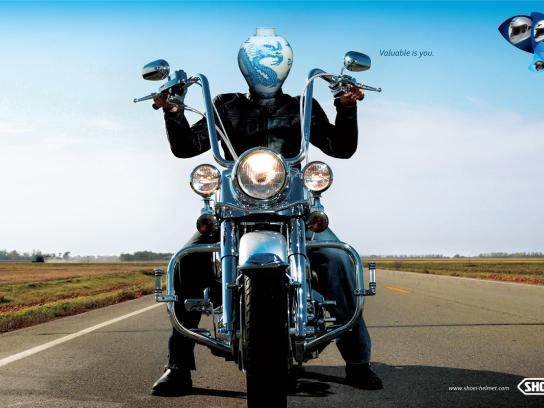 Shoei Helmet Print Ad -  Vase