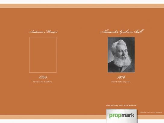 Propmark Print Ad -  Graham Bell
