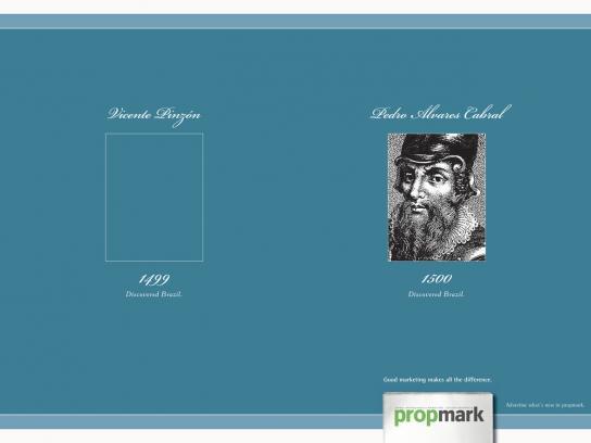 Propmark Print Ad -  Pedro Alvares Cabral