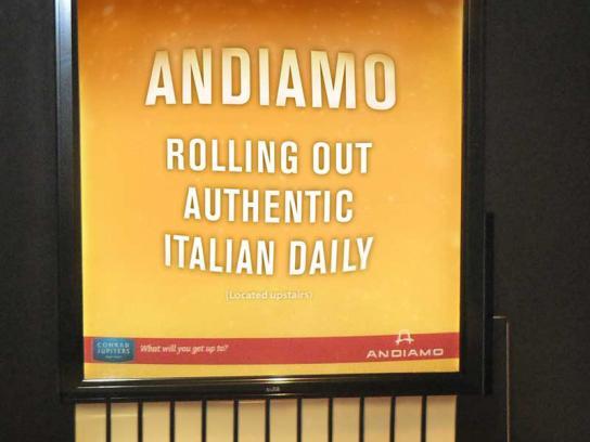 Andiamo Outdoor Ad -  Pasta Back-lit
