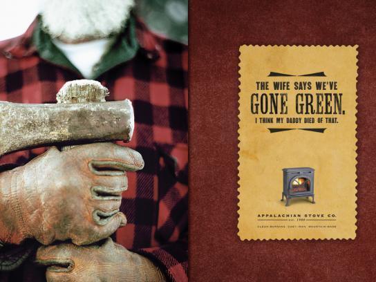 Appalachian Stove Print Ad -  Green