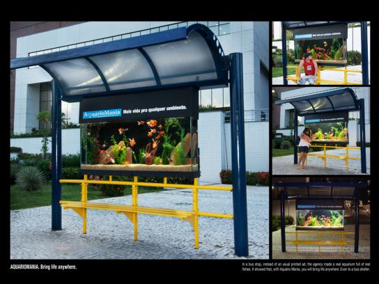 Aquariomania Ambient Ad -  Bring life anywhere