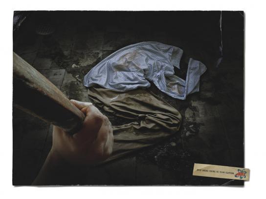 Ariel Print Ad -  Torture, 1