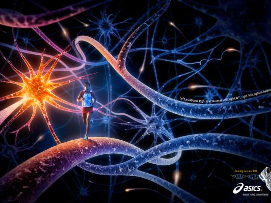 ASICS Print Ad -  Neurons