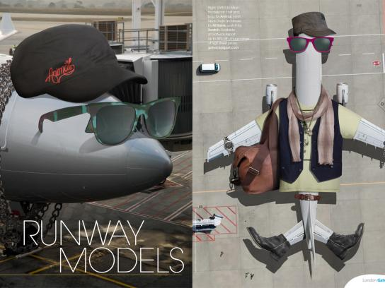 Gatwick Airport Print Ad -  Runway Models