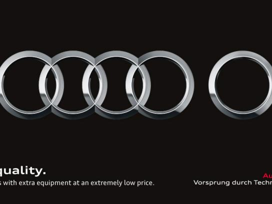 Audi Print Ad -  Five circles