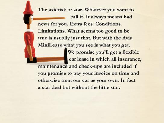 Avis Print Ad -  Asterisk