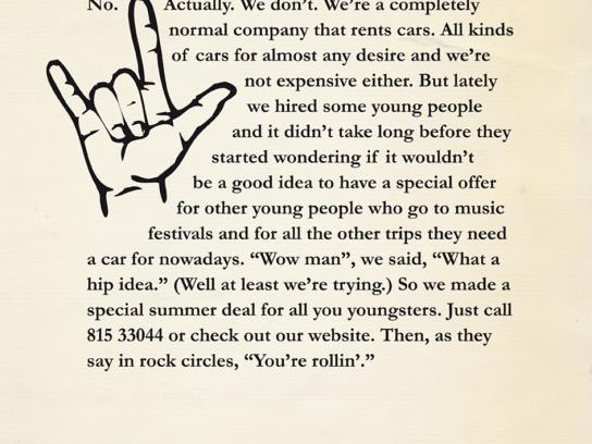 Avis Print Ad -  Rock