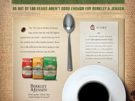 Berkley & Jensen Print Ad -  Rejection
