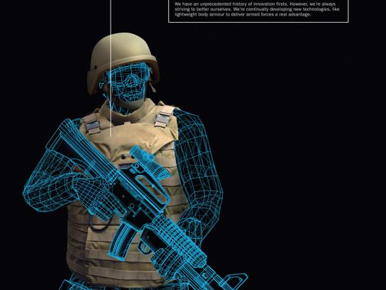 BAE Systems Print Ad -  Body armour