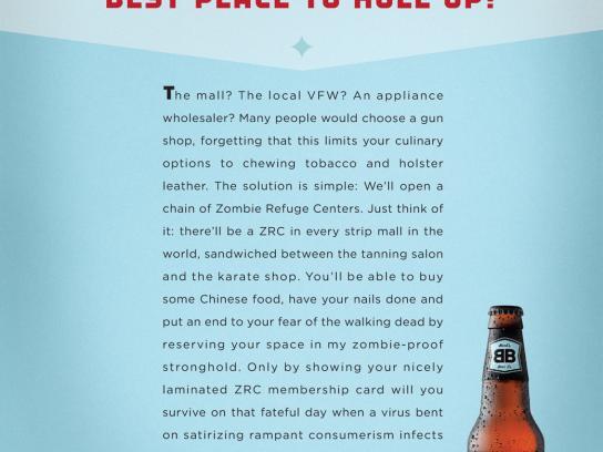 Bard's Print Ad -  Zombie