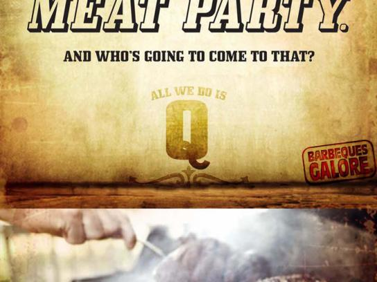 Barbeques Galore Print Ad -  Meat party