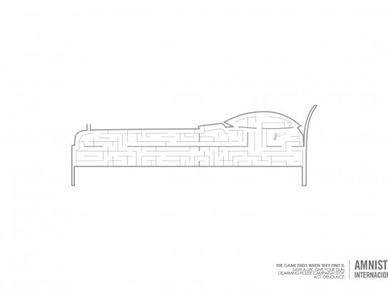 Amnesty International Print Ad -  Bed