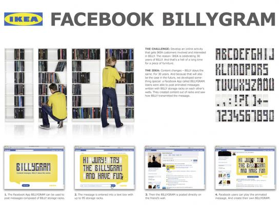 IKEA Digital Ad -  Facebook Billygram
