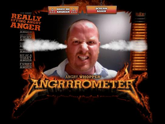 Burger King Digital Ad -  The Angry Whopper Angrrrometer