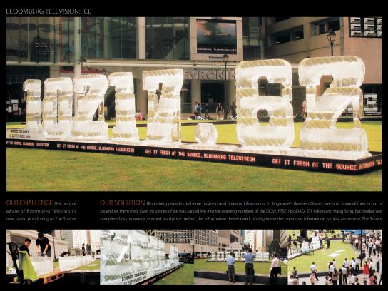 Bloomberg Ambient Ad -  Ice