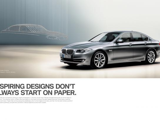 BMW Print Ad -  Inspiring Designs Don't Always Start on Paper