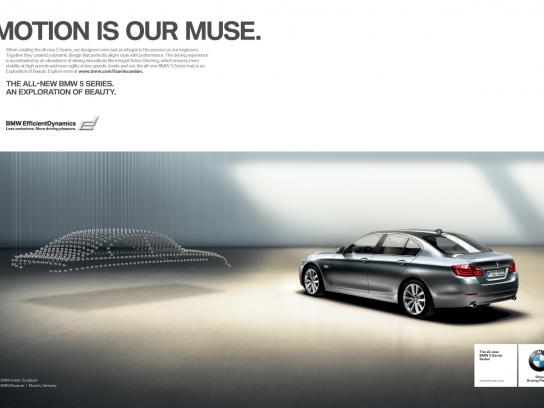 BMW Print Ad -  Motion is Our Muse